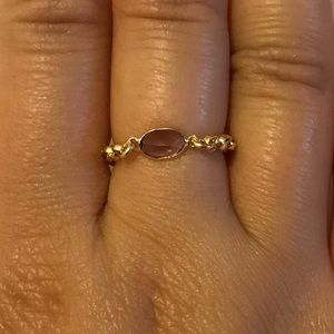 Jewelry - Amethyst Ring with Gold Chain